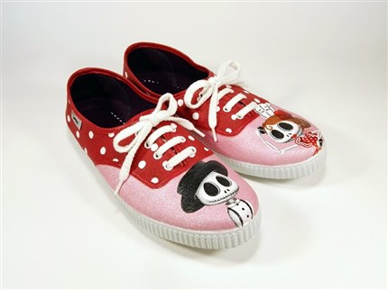 FLAMENCO SKULL zapatillas pintadas Mr. Pinnot