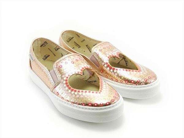 SLIP ON CORAZON  METALIZADO rosa