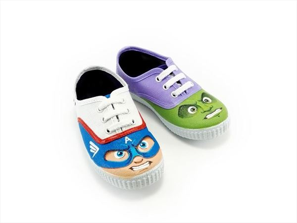SUPER HEROES zapatillas pintadas