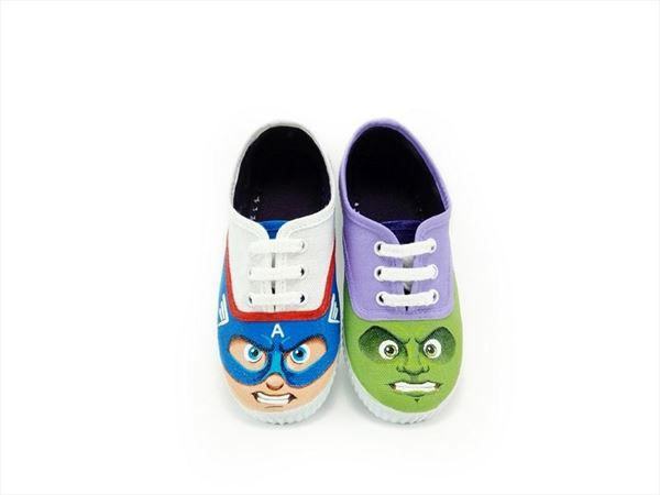 SUPER HEROES zapatillas pintadas (3)