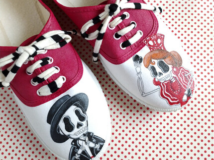 Zapatillas FLAMENCO SKULL new