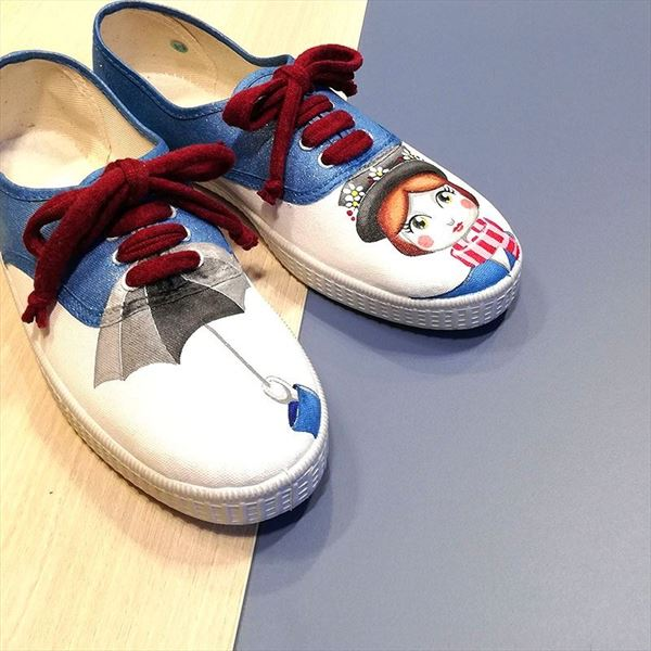Zapatillas MARY POPPINS paraguas (2)